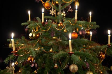 50 Christmas Tree Candle Lights Christmas Tree With Candle Light