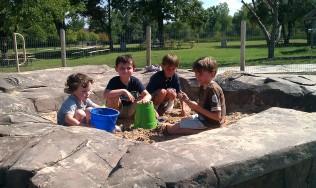 Sand box siblings