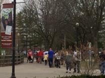 Detroit zoo mass exit