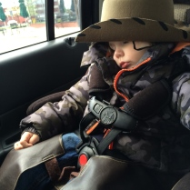 On the ride home I caught a few zzzz. While I was dozing someone took a picture of me. Not so cool! I have fans